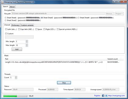 Breaking Excel password