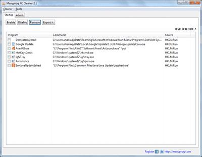 Programme demarrage windows